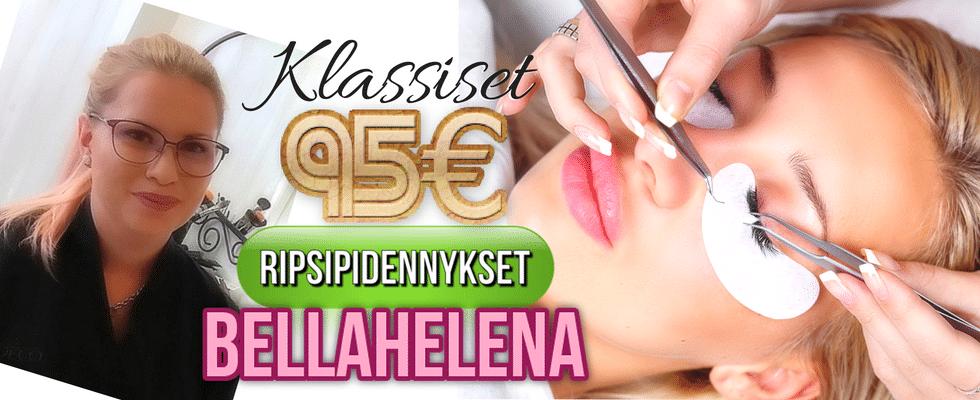 Klassiset Ripsipidennykset Kauneushoitola BellaHelena Oulu Helena & Paris Oy 2018 LashLovers Janika Pakanen Finland