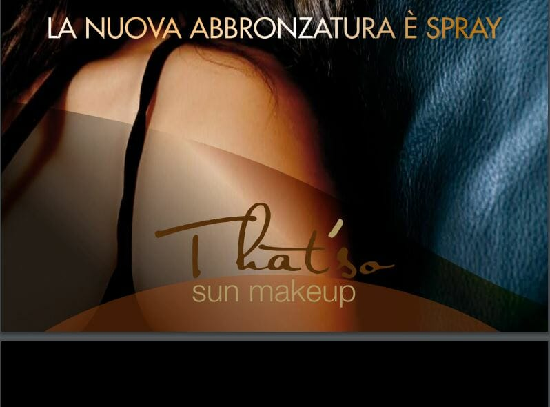 That´so sun tan makeup 2 - Uusi Suihkurusketus Ouluun That´so Sun Makeup Spray Tanning