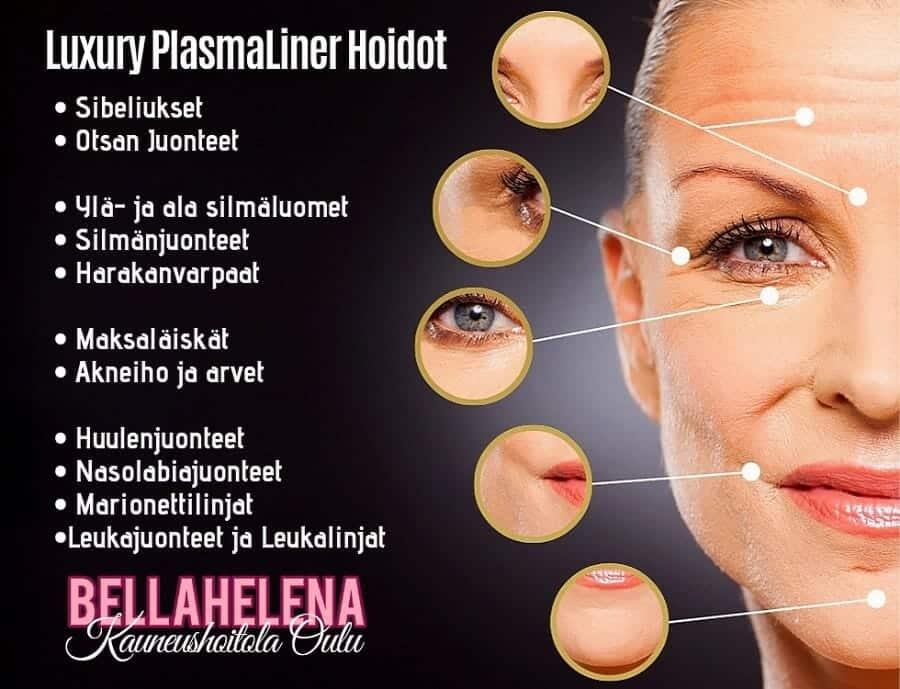 Luxury PlamaLiner Hoidot Naisen Kasvoille Oulussa Kauneushoitola BellaHelena KOsmetologi Helena Tauriainen
