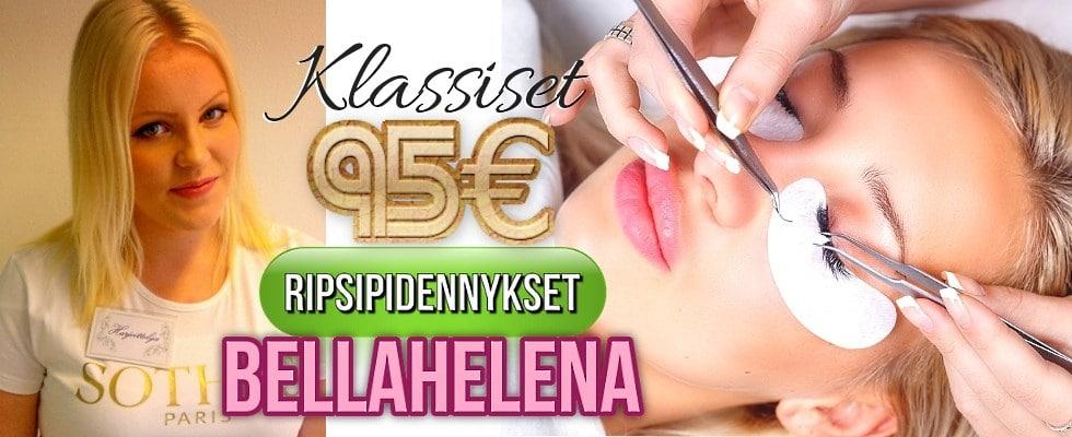 Klassiset LashLovers Ripsipidennykset Helena Koivukangas 95€ Kauneushoitola BellaHelena Oulu Finland LashLovers