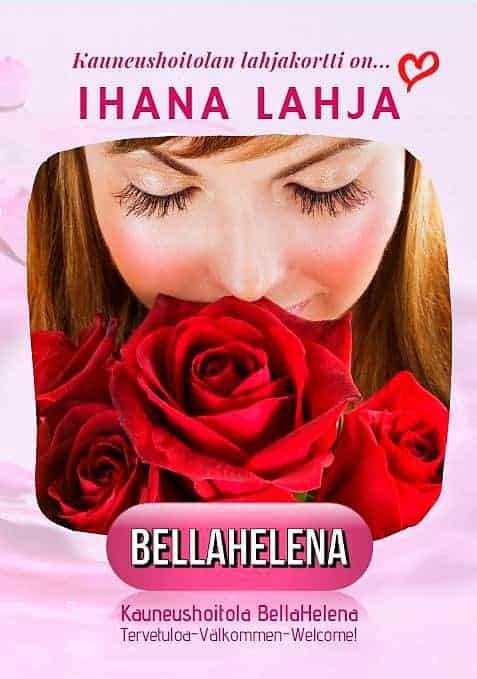 Muista Äitiä Kauneushoitolan Lahjakortilla BellaHelena Oulu. Se on Ihana lahja!