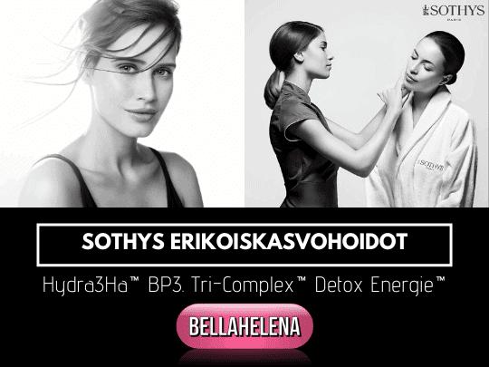 Sothys Erikoiskasvohoidot Hydra3Ha Tri-Complex Detox Energie Kauneushoitola BellaHelena Oulu